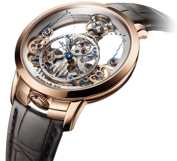 Arnold and Son Time Pyramid watch red gold model