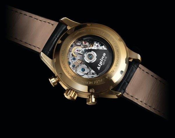 Alpina 130 Automatic chronograph caseback view