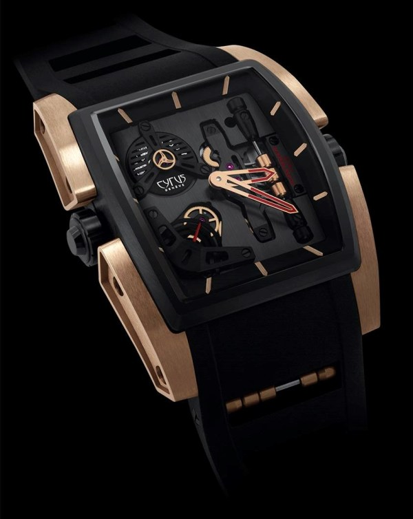 CYRUS KAMBYS watch black dlc and red gold