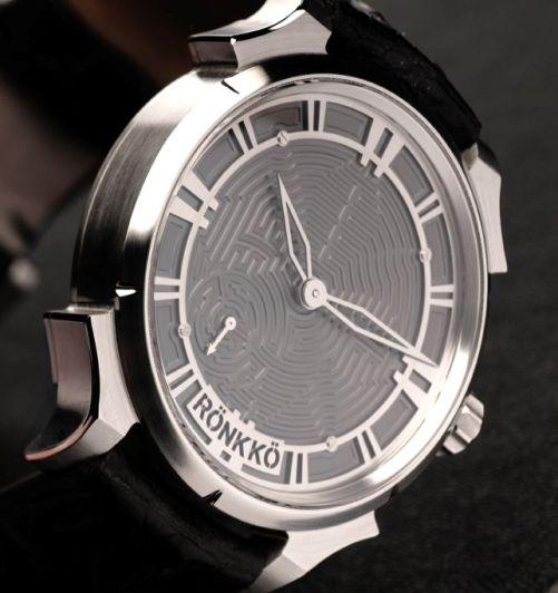 Ronkko Steel Labyrinth watch