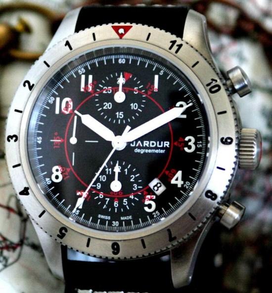 JARDUR Degreemeter chronograph swiss made