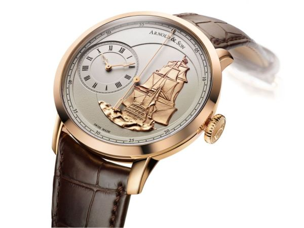 Arnold and Son TB Victory watch rose gold