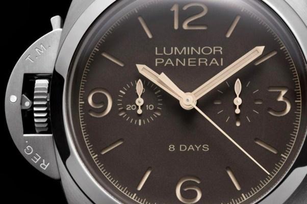 PANERAI LUMINOR 1950 CHRONO MONOPULSANTE LEFT-HANDED 8 DAYS TITANIO – 47mm Reference: PAM00579