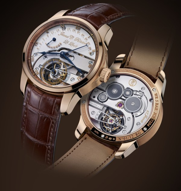 Jämes C. Pellaton Royal Marine Chronometer watch red gold model