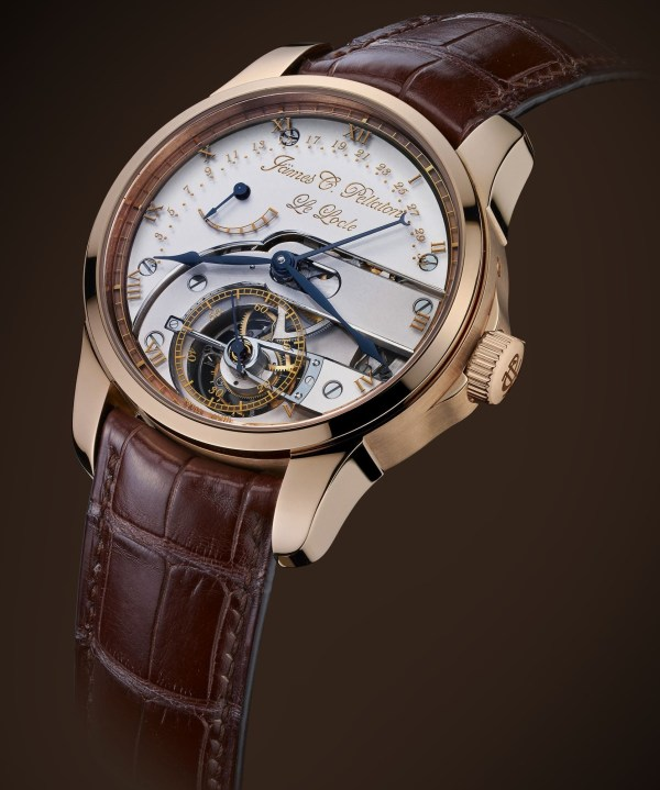 Jämes C. Pellaton Royal Marine Chronometer watch with red gold case