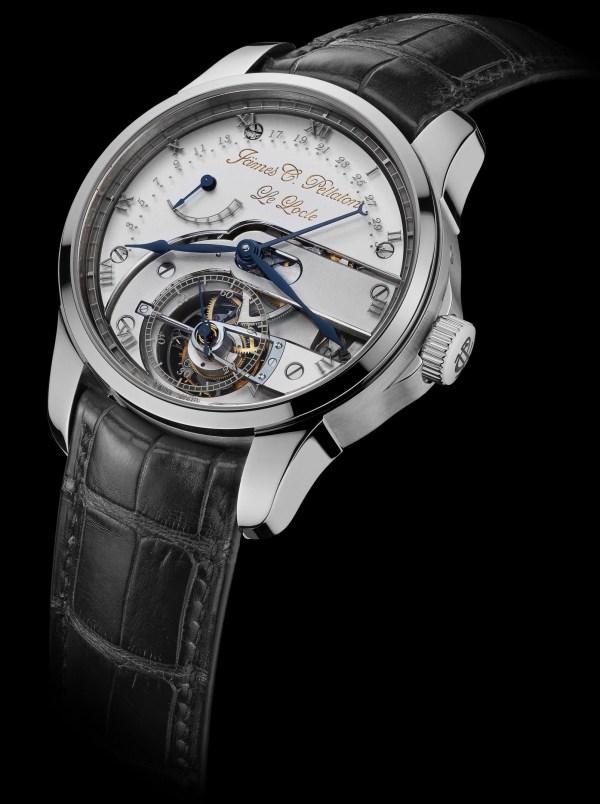 Jämes C. Pellaton Royal Marine Chronometer watch with white gold case