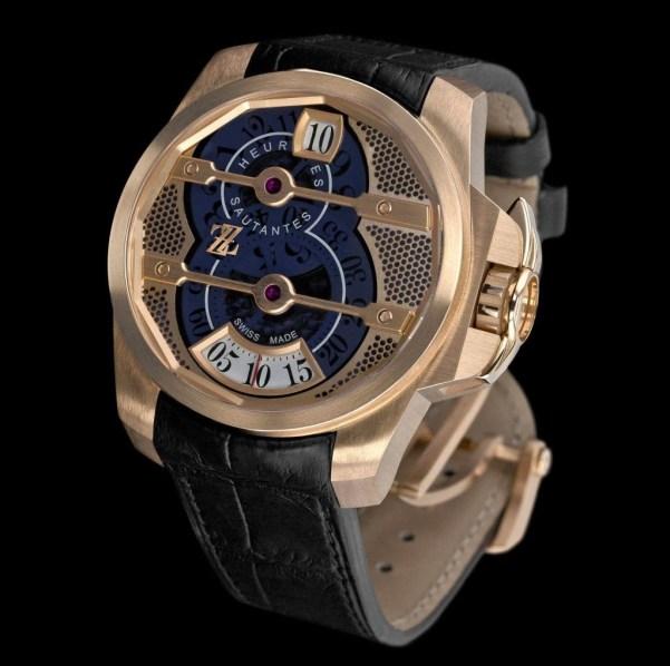 ZZ Tornade automatic pink gold watch