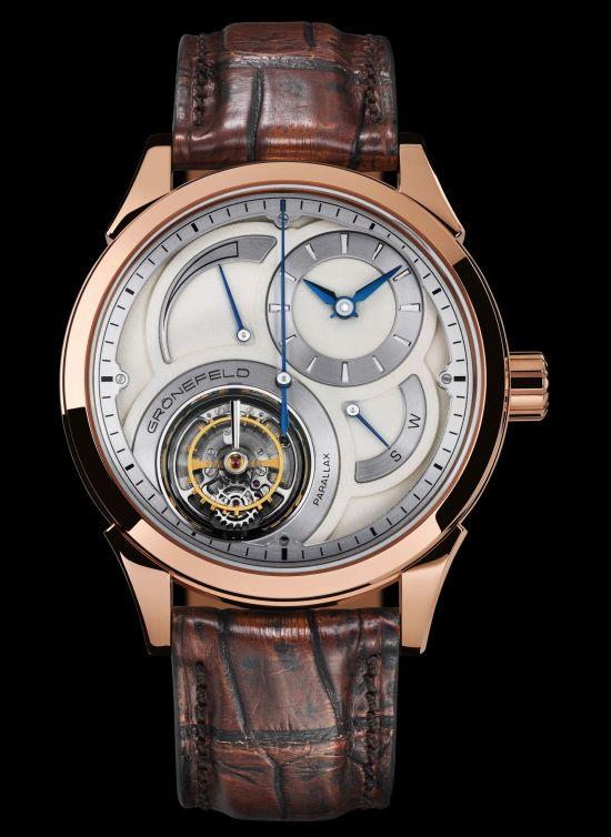 GRÖNEFELD PARALLAX TOURBILLON watch red gold model