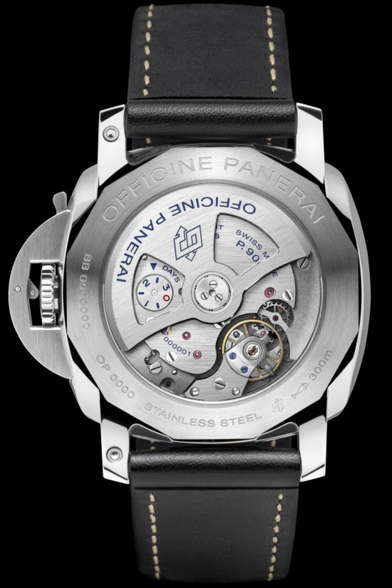 Panerai Luminor 1950 - 3 Days GMT 24H Automatic Acciaio- 44mm (Reference: PAM00531) case back