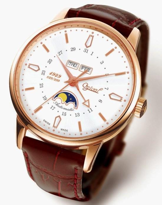 OGIVAL 1929 Moonphase & Calendar, 18K Gold watch