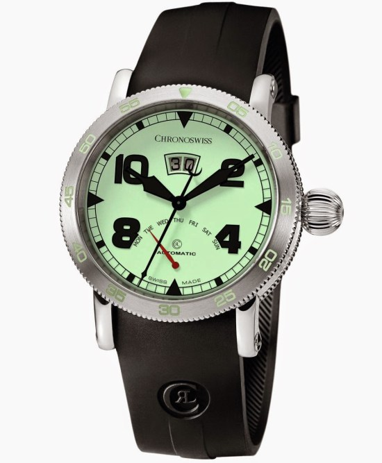 CHRONOSWISS Timemaster Retrograde Day Automatic watch with luminous dial