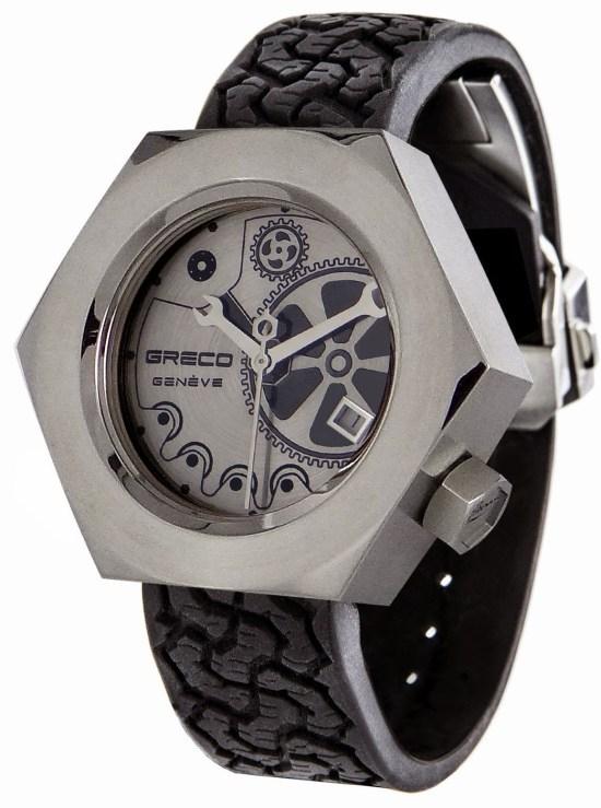 GRECO Genève Les Temps Modernes - Hexagonal Nut-design Watch