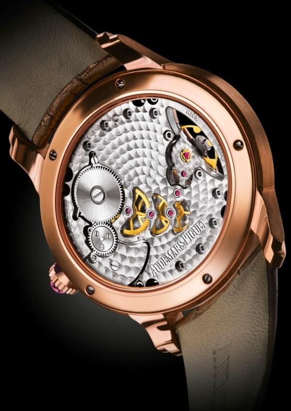 Audemars Piguet Millenary Woman red gold watch case back view