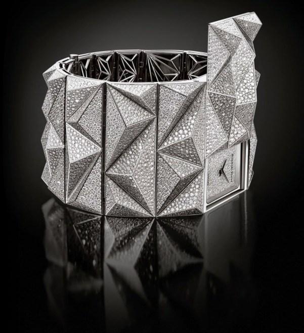 Audemars Piguet Diamond Punk Haute Joaillerie Cuff Watch