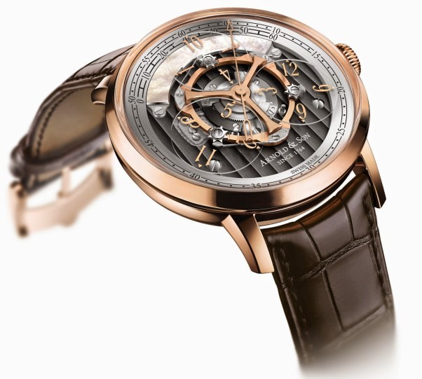 Arnold and Son Golden Wheel, the World's First Wandering Hours and True Beat Seconds Watch