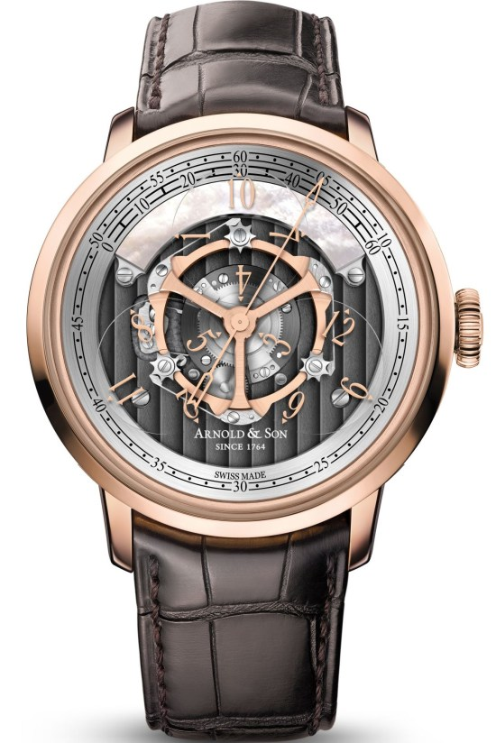 Arnold and Son Golden Wheel watch in red gold