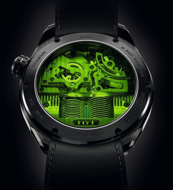 HYT SKULL Limited Edition Green Eye Caseback