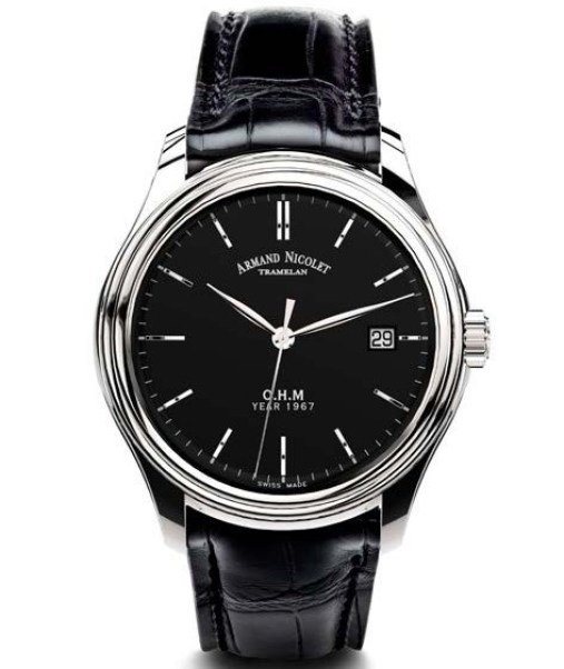 Armand Nicolet O.H.M. L15 Limited Edition watch with black dial
