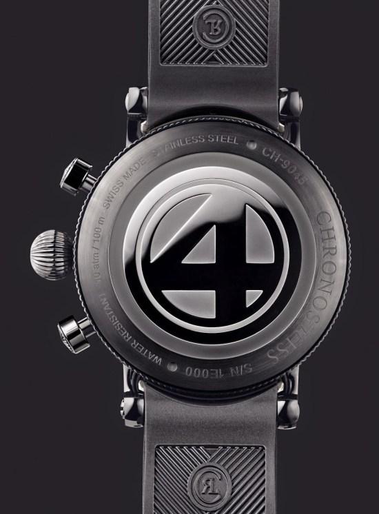 "Chronoswiss Timemaster Chronograph Day Date F4 ""Die Fantastischen Vier"" Special Edition watch case back view"