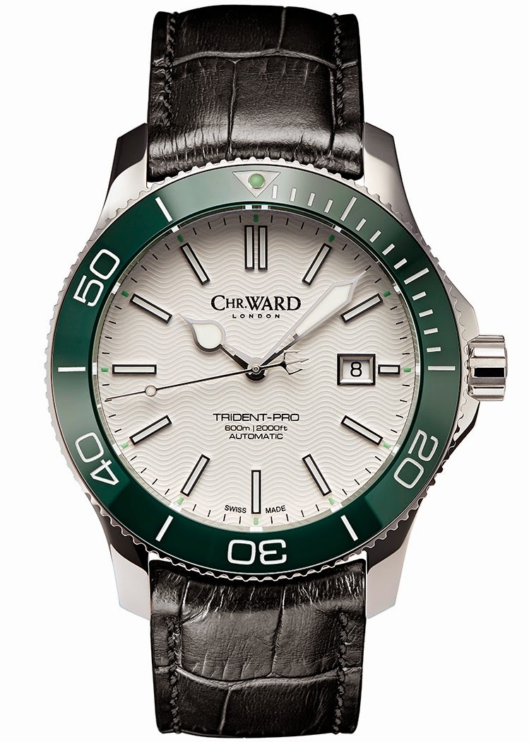 christopher ward trident collection white dial versions
