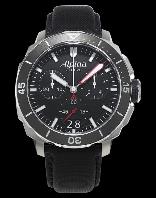 Alpina Seastrong Diver 300 Chronograph Big Date Reference: AL-372LBG4V6