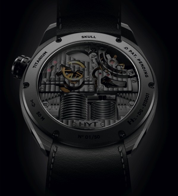 HYT Skull Bad Boy Limited Edition caseback view