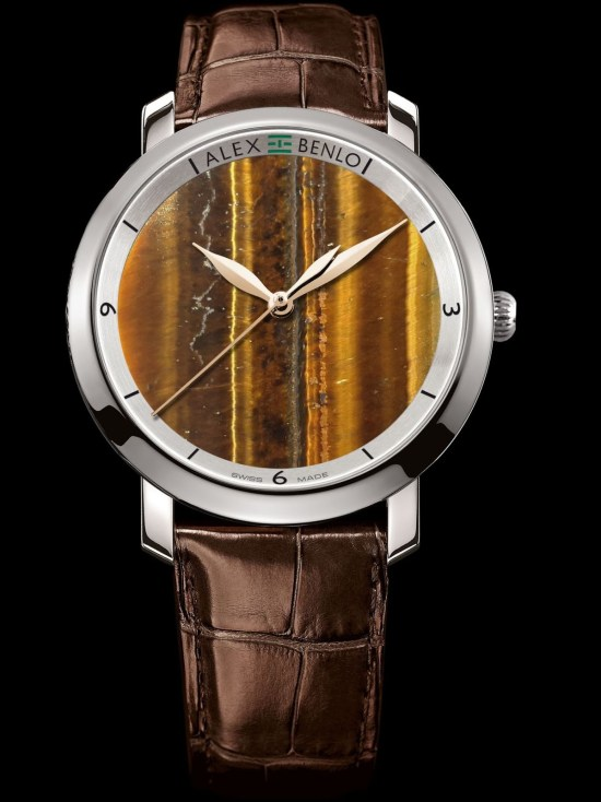 Alex Benlo Tiger's Eye, Swiss Made watch