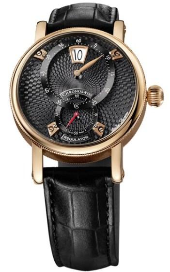 Chronoswiss Sirius Flying Regulator Jumping Hour watch CH-8321R-BKBK 18 ct. red gold case galvanic black dial