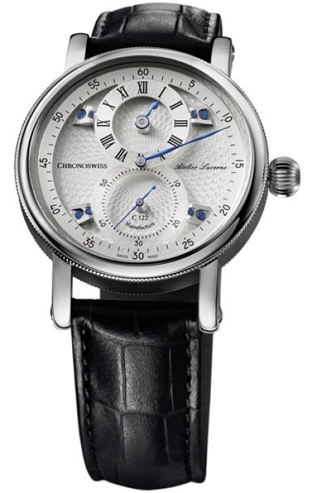 Chronoswiss Sirius Flying Regulator CH-1243.3-SISI Stainless steel case and galvanic silver dial