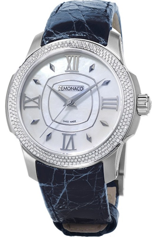 Ateliers deMonaco Ronde de Monte-Carlo watch white gold diamond-set case and white mother of pearl dial