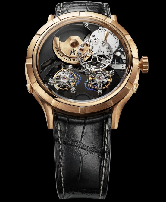 Manufacture Royale 1770 Micromegas Revolution watch rose gold case
