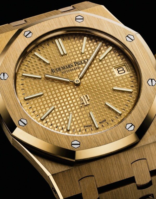 Audemars Piguet Royal Oak Extra-Thin Yellow Gold with champagne dial