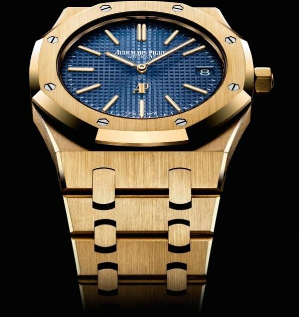 Audemars Piguet Royal Oak Extra-Thin Yellow Gold with blue dial