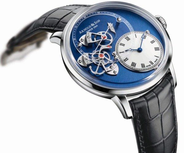 Arnold and Son Instrument DSTB, New Stainless Steel watch with white lacquered sapphire dial