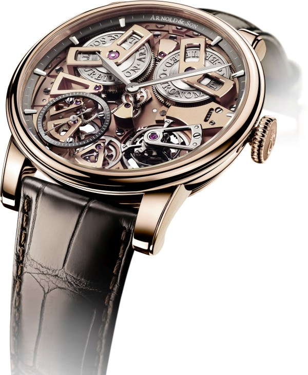 Arnold and Son Tourbillon Chronometer No.36 limited edition watch in red gold