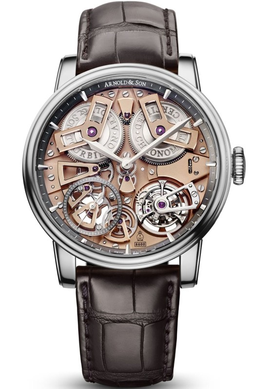Arnold and Son Tourbillon Chronometer No.36 limited edition watch in stainless steel