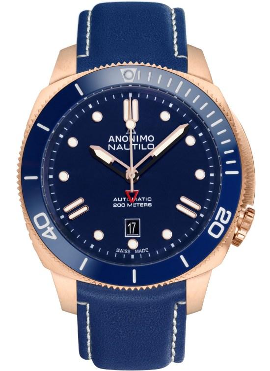 ANONIMO New Nautilo Bronze Blue watch