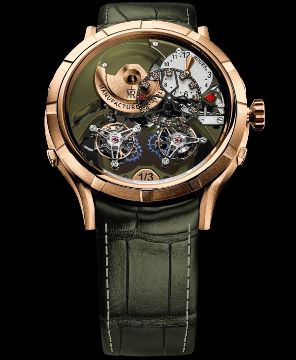 Manufacture Royale 1770 'Micromegas' Révolution - New Editions with khaki green decore and silvered dial