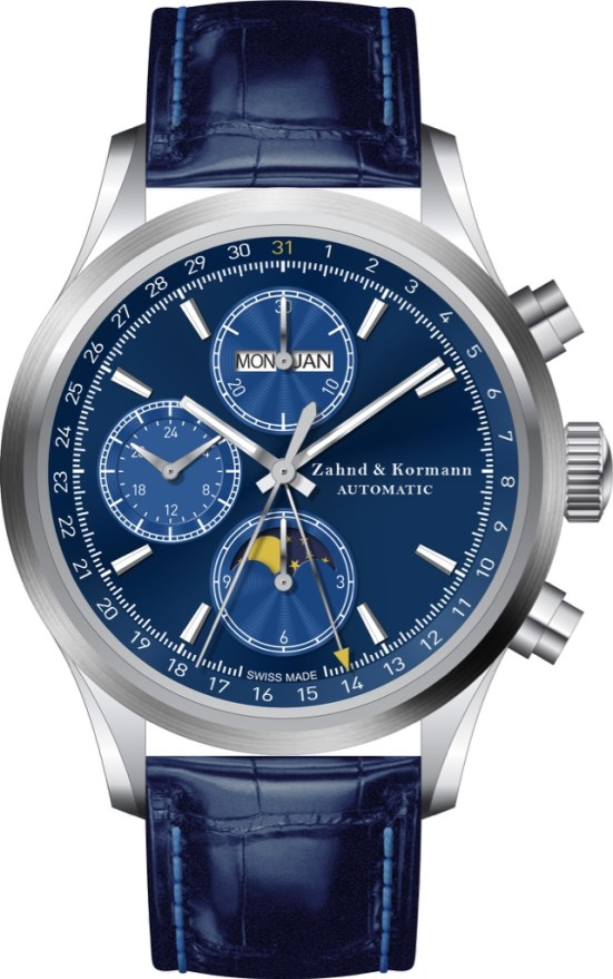 Zahnd & Kormann ZK No.1 Swiss Made Automatic Chronograph with Full Calendar and Moonphase