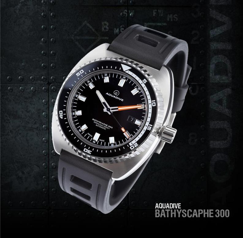 AQUADIVE BATHYSCAPHE 300 diving watch 3000 meters water resistance