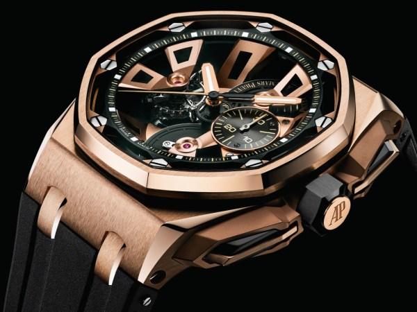 Audemars Piguet Royal Oak Offshore 25th Anniversary Edition Royal Oak Offshore Tourbillon Chronograph in Pink gold