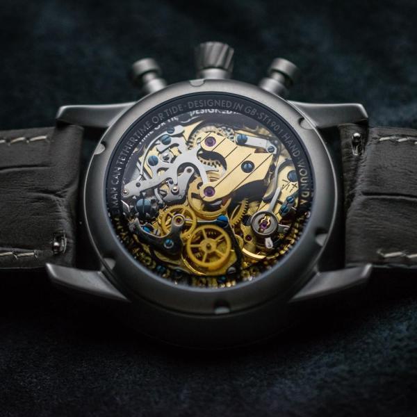 Marloe Watch Company Lomond Chronoscope Sea-Gull ST1901 column-wheel manual movement