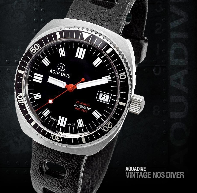 AQUADIVE 200 vintage NOS (New Old Stock) Diver