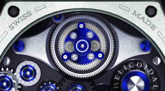 Philip Lutolf HP1 - The World's First Mechanical Wrist Watch with Helicoidal Springs