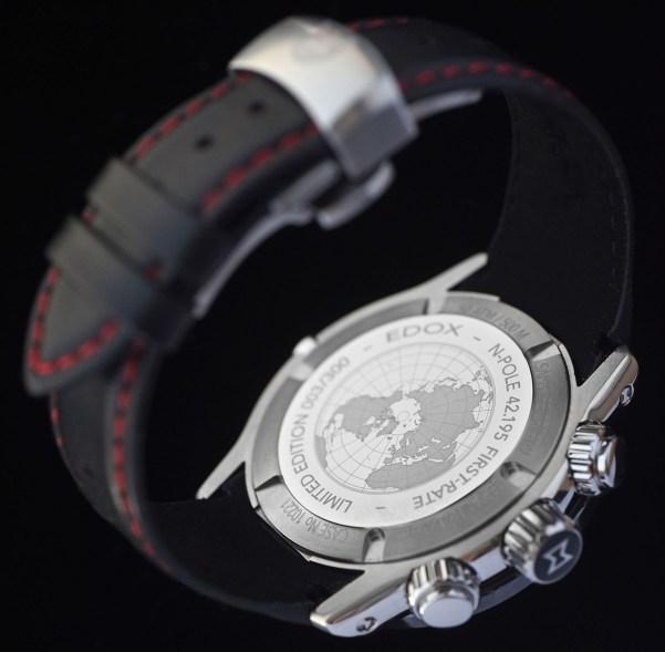 Edox N-Pole 42.195 Limited Edition watch case back