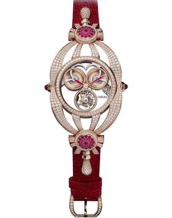 Giberg Haute Horlogerie Niura flying tourbillon watch for women