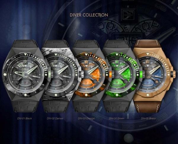Franck Dubarry Diver watches
