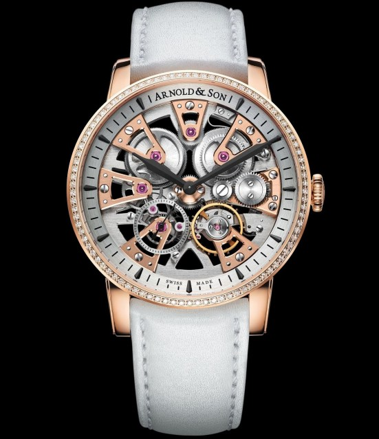Arnold and Son Nebula Lady watch in diamond set red gold case