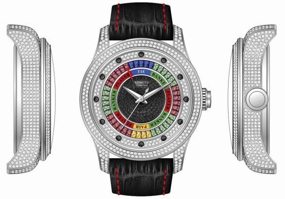 Azimuth Round-1 Baccarat diamond set watch