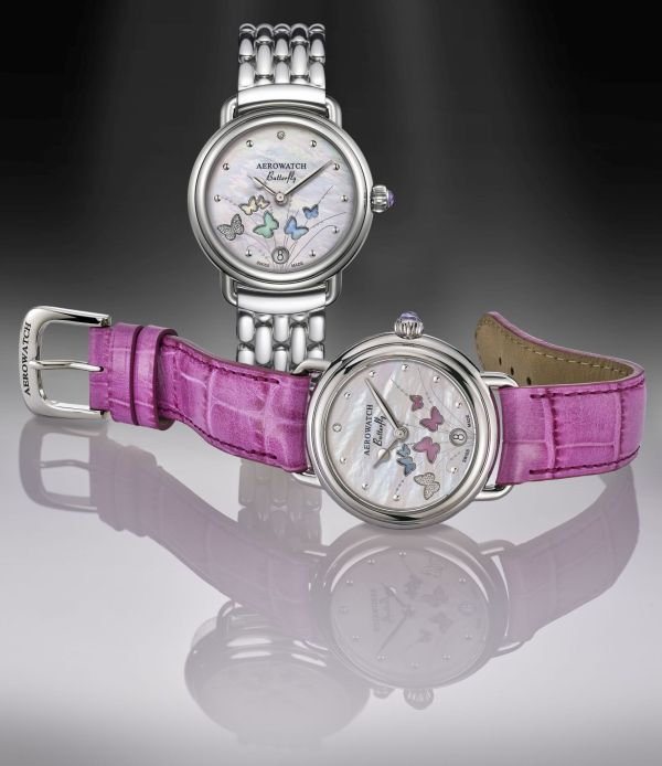 Aerowatch 1942 Butterfly Limited Edition Ref. A 44960 AA05 ladies watch
